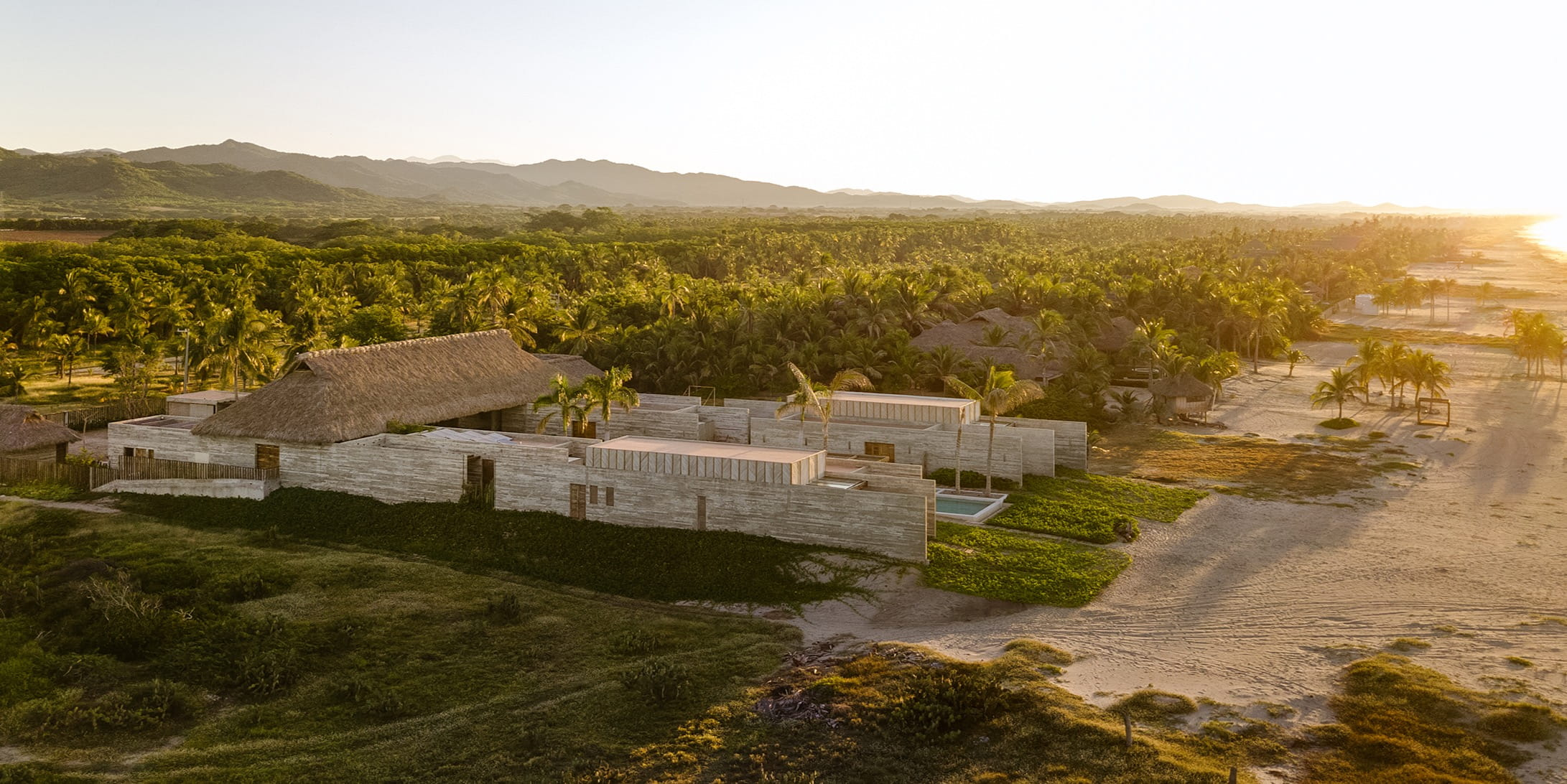 This Holiday home is grounded in the locality and inspired by Oaxacan coast vernacular
