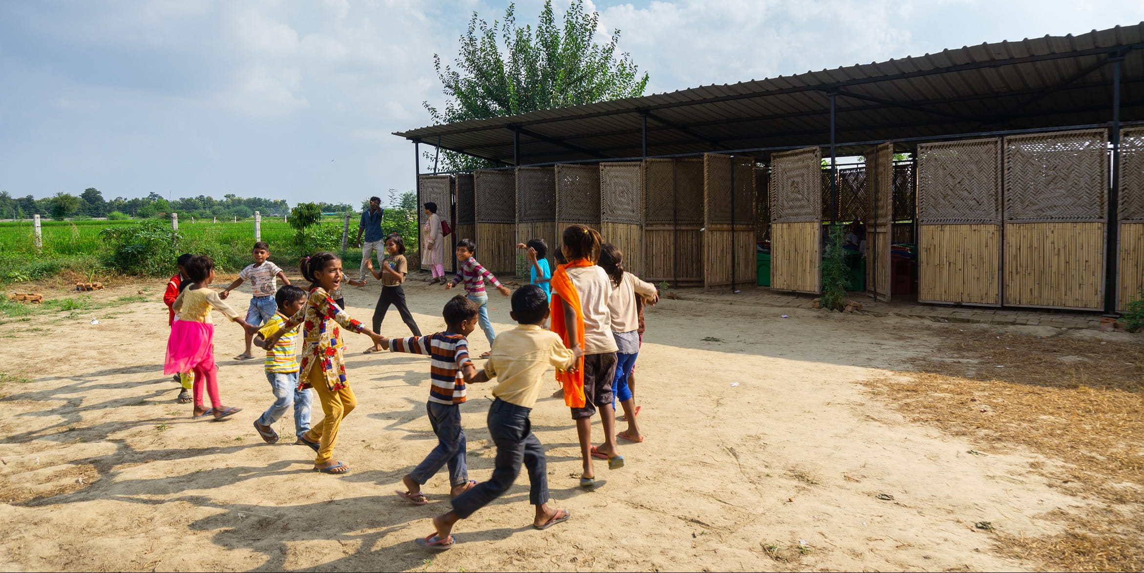 This school in Delhi is designed to be assembled in few days and disassembled in few hours