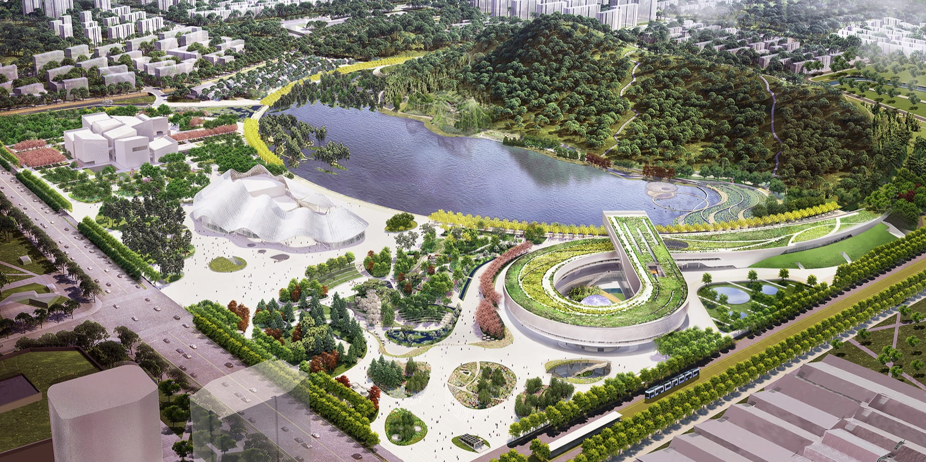 Construction update on Perkins+Will's infinity loop Suzhou Science and Technology Museum