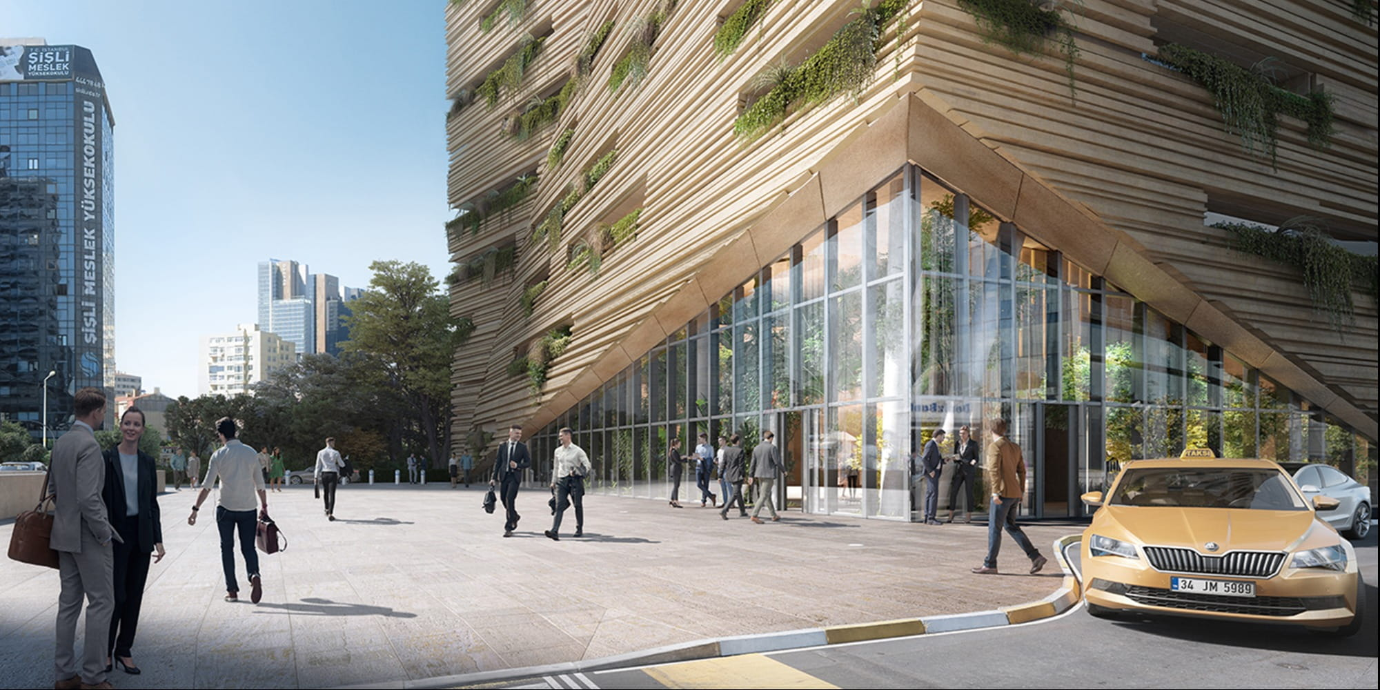 RMJM Milano reveals their winning design for biophilic office tower for Sanko Headquarters in Istanbul