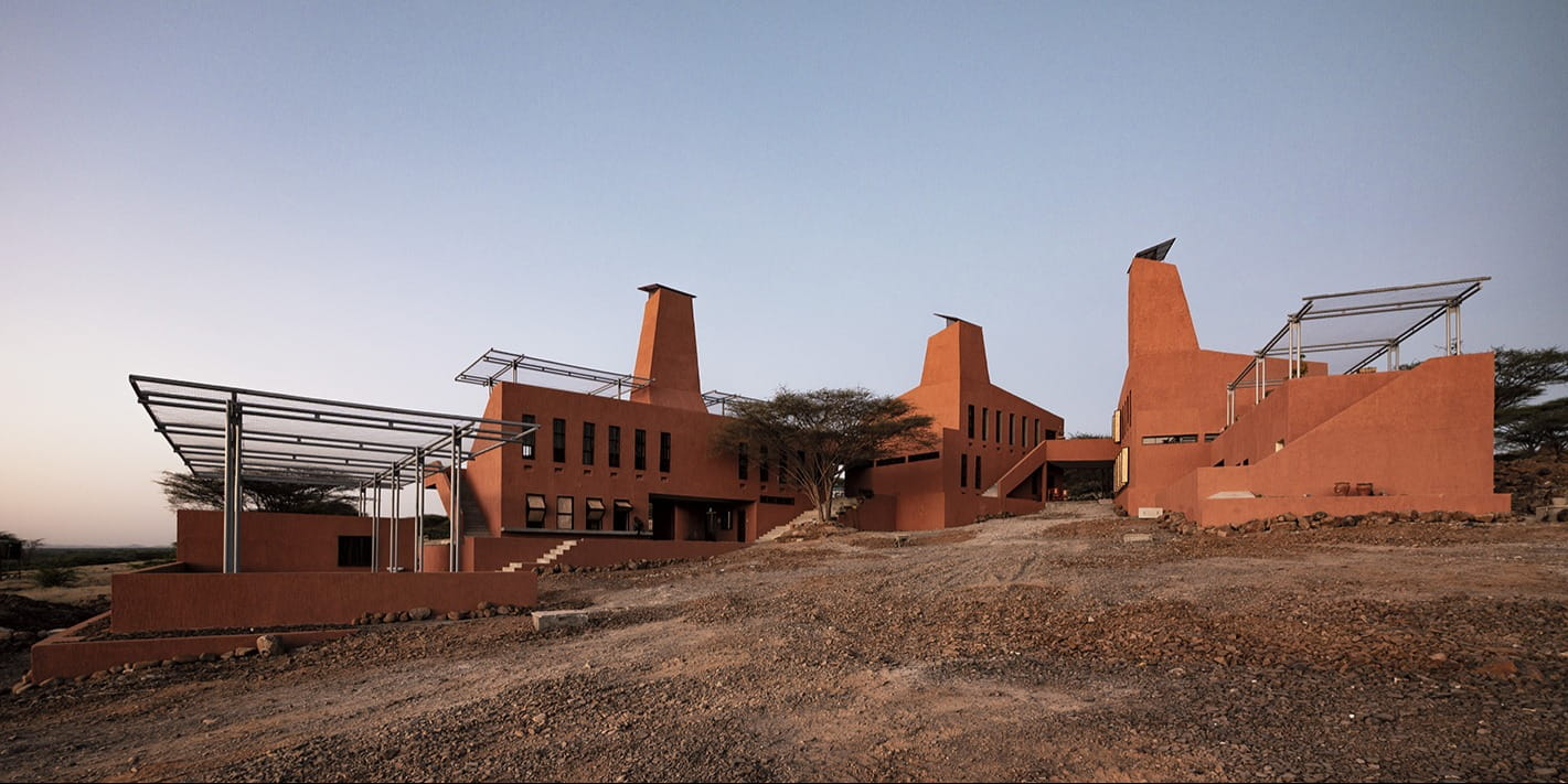 Kéré Architecture completes college campus in Kenya, inspired by the termite mounds found in the region