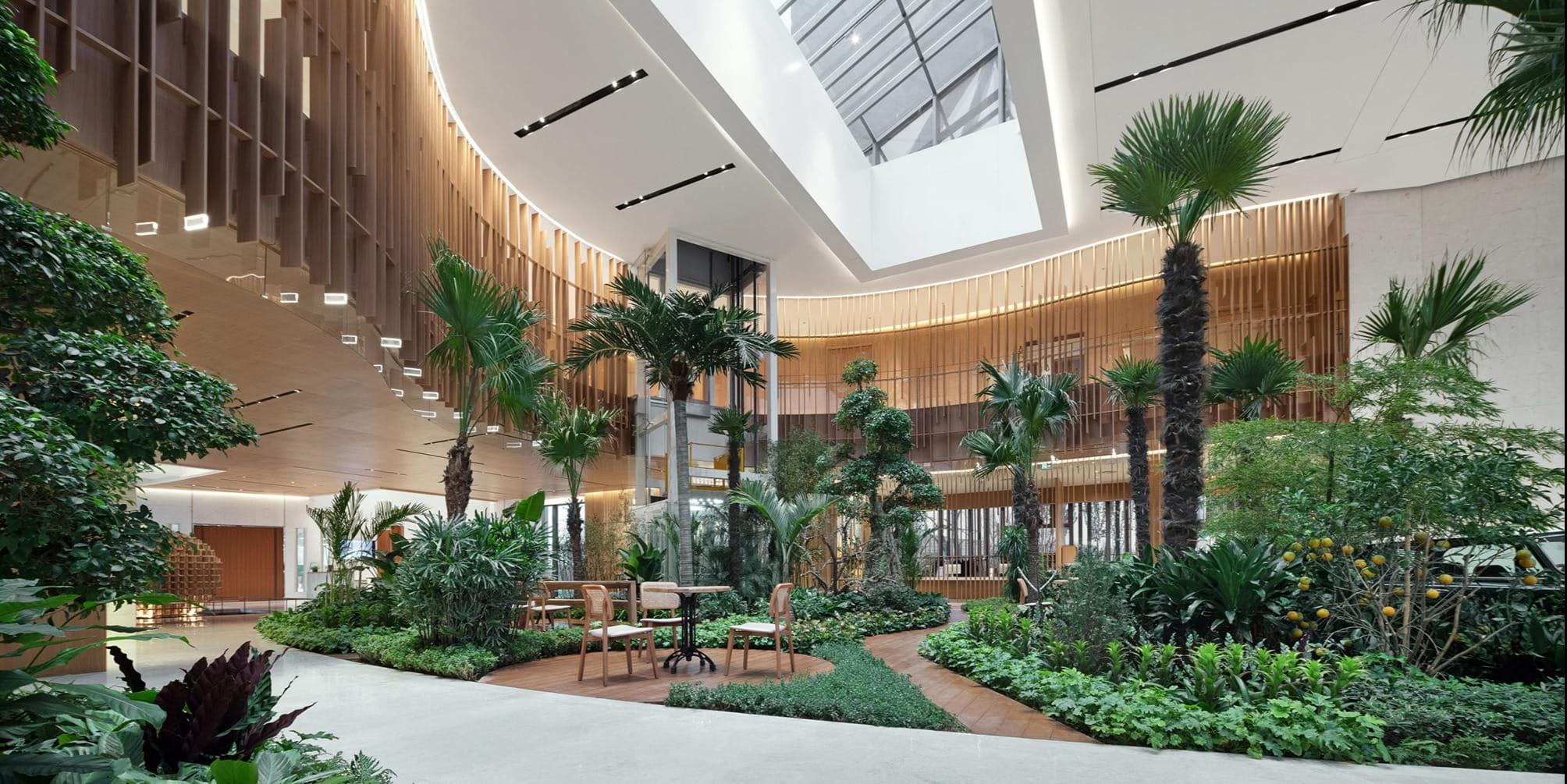 Sunson Design creates a miniature 'botanic garden' inside this community centre in Yinchuan