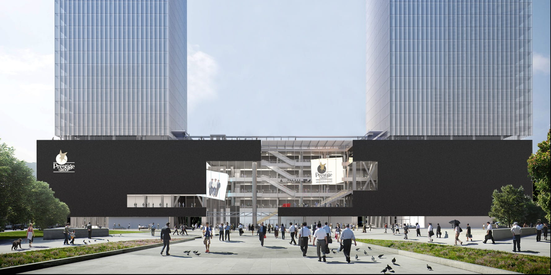 OMA's 290 metres twin towers project in the heart of Mumbai breaks ground