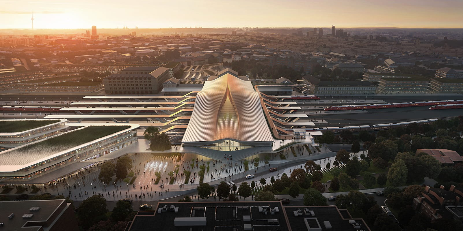 ZHA has won an international competition for the redevelopment of the Vilnius railway station in Lithuania