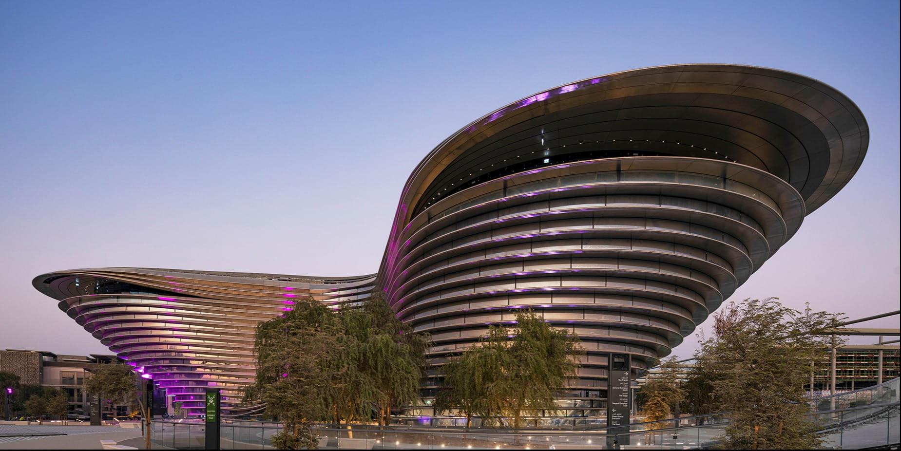 Foster + Partners-designed Mobility Pavilion for Expo 2020 Dubai evokes a sense of movement