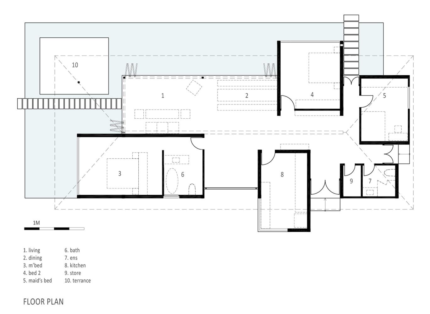 AM house in Vietnam Floor plan