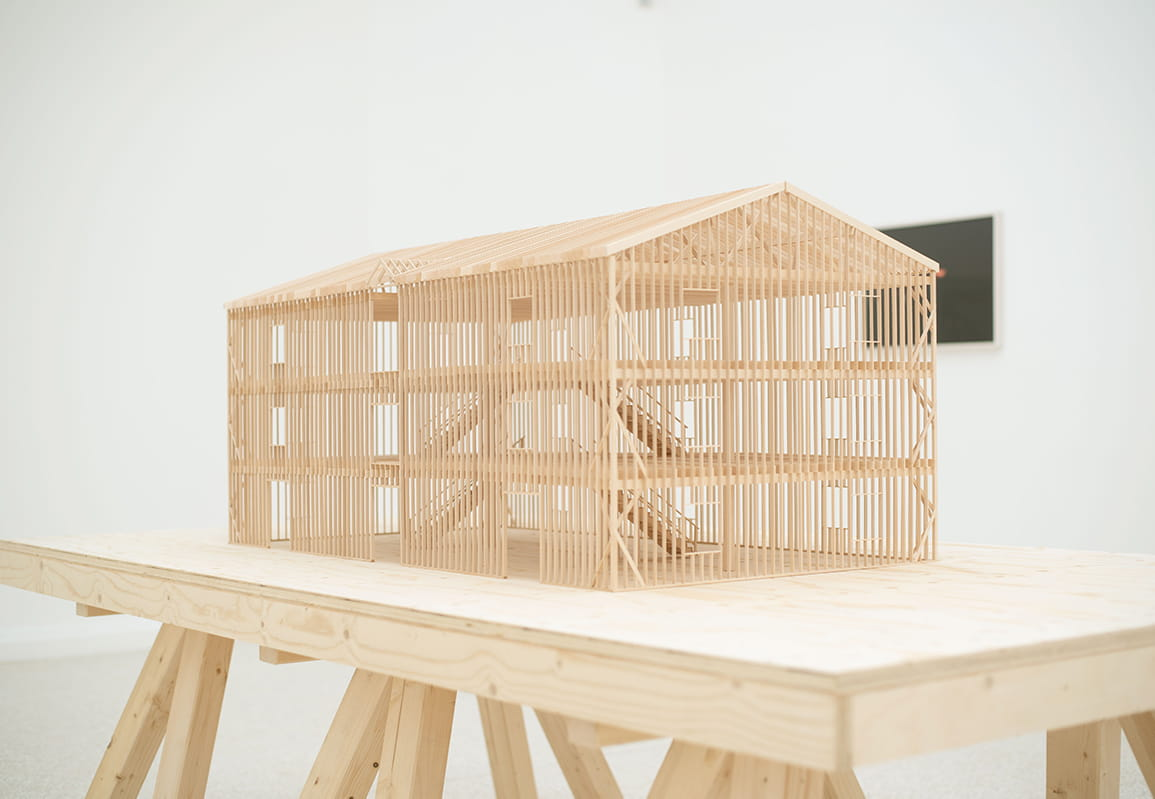 American Framing exhibition showing scaled models