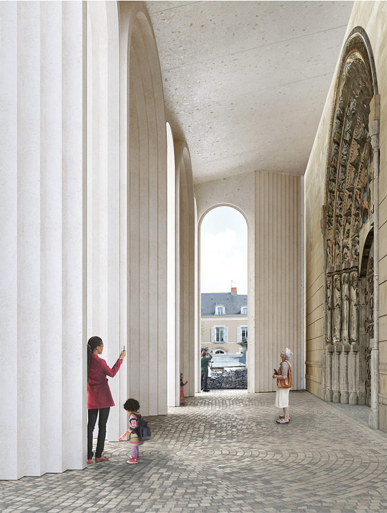 KENGO KUMA ADDITION TO ANGERS CATHEDRAL