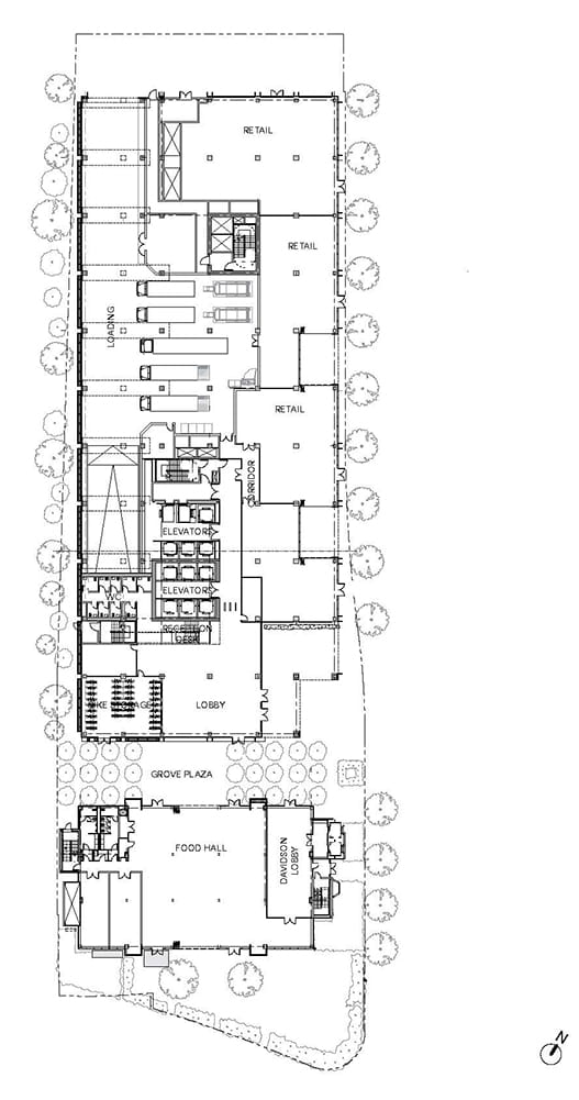 Arbor by Studio Gang Ground floor plan