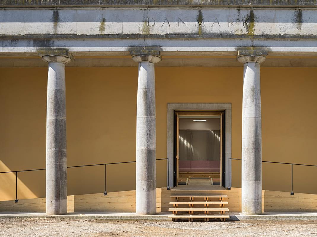 Con-nect-ed-ness - Danish Pavilion at Venice Architecture Biennale 2021, entrance