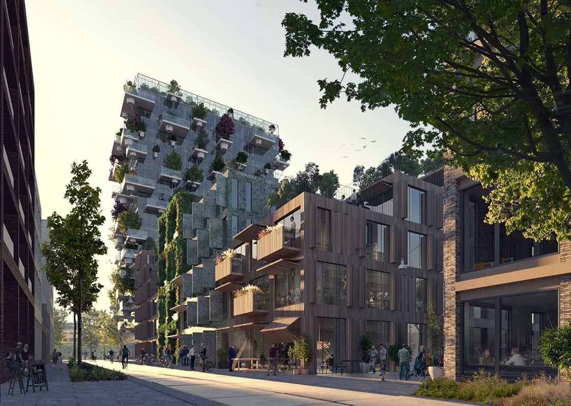 Green neighbourhood in Oostenburg, Amsterdam by MVRDV