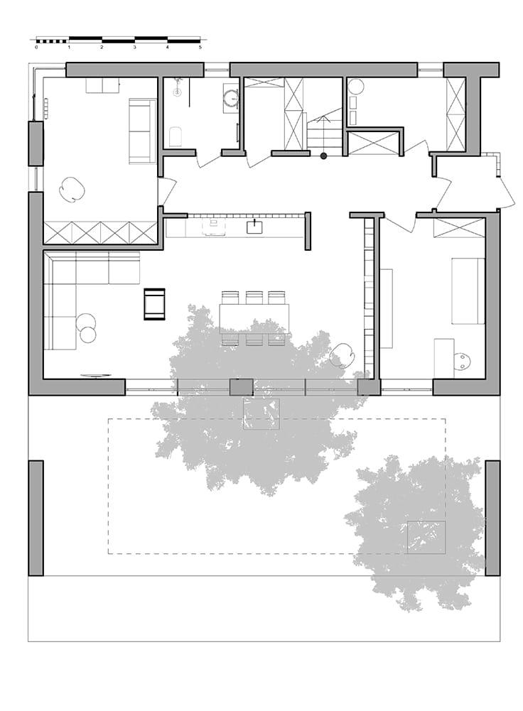 Hill House by Snegiri Architects Floor Plan