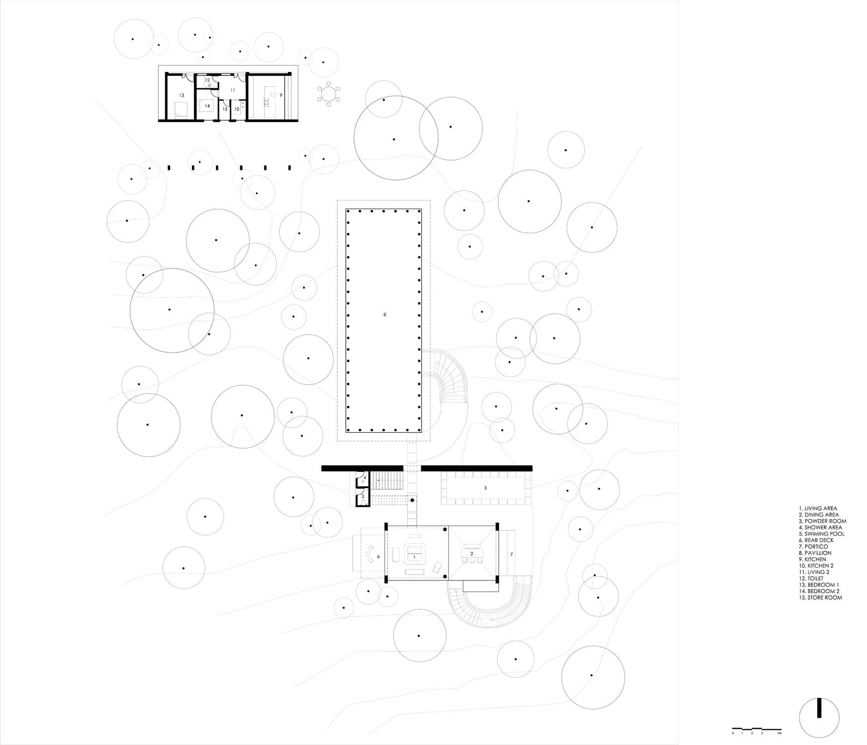 Ground Floor Plan of Ksaraah by Taliesyn Design & Architecture