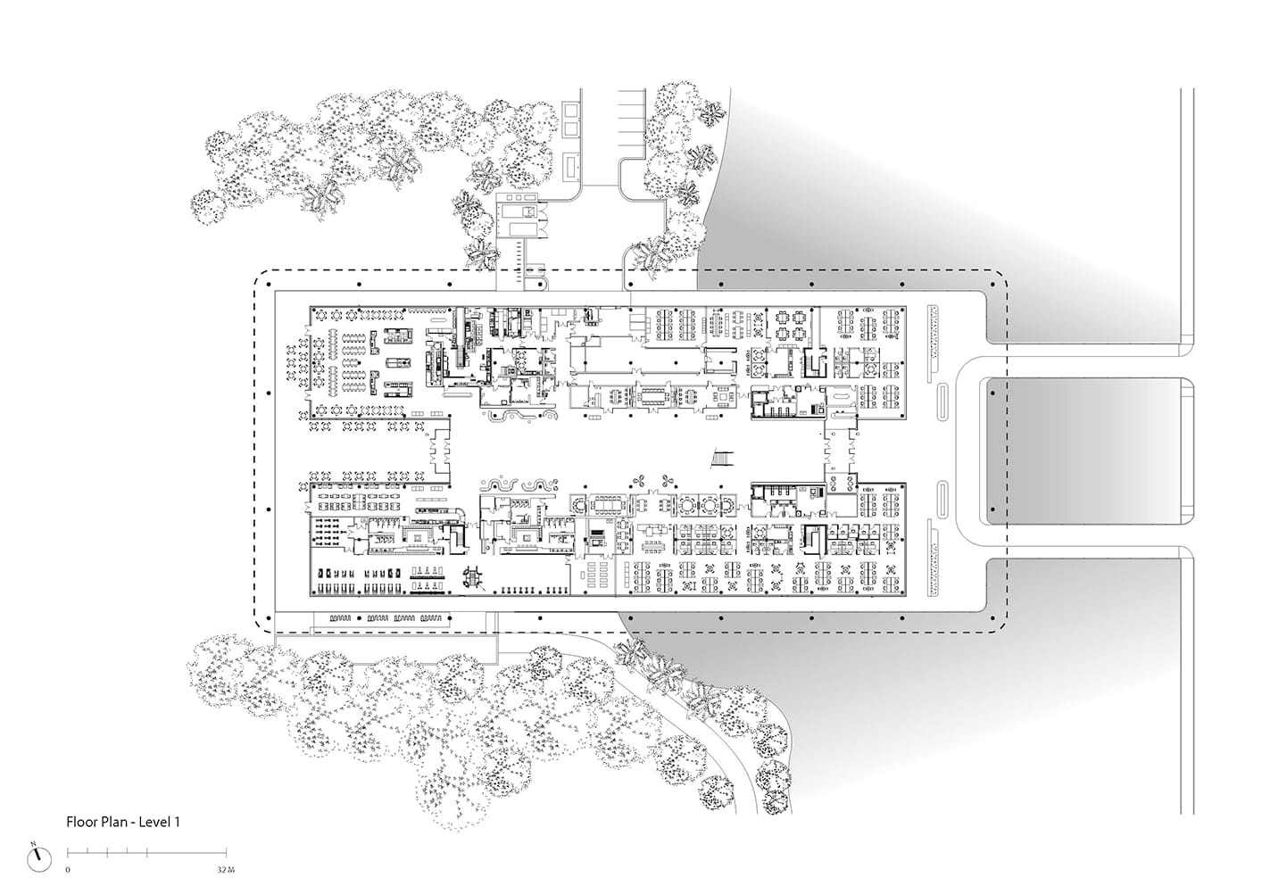 First floor plan of PGA TOUR new headquarters by Foster + Partners