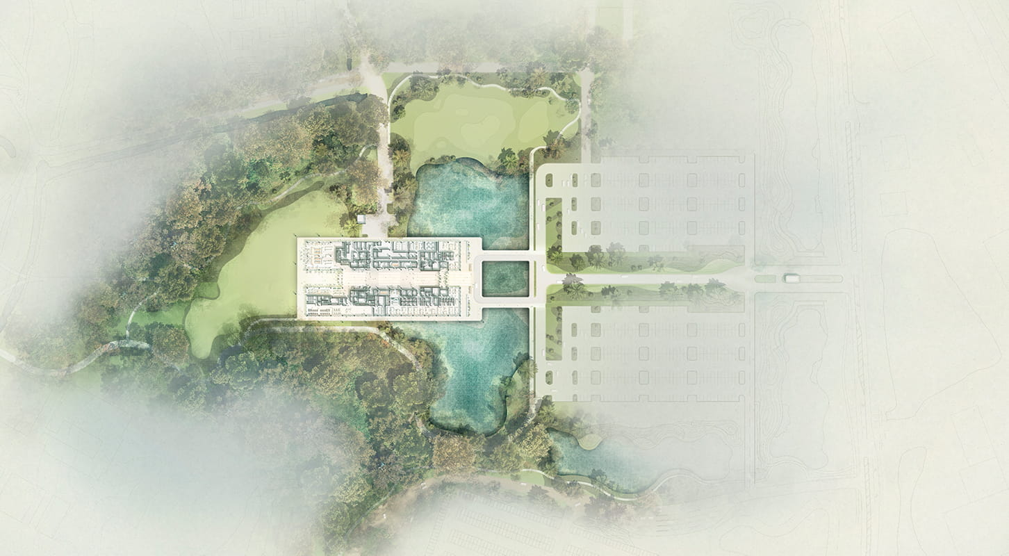 Site plan of PGA TOUR new headquarters by Foster + Partners