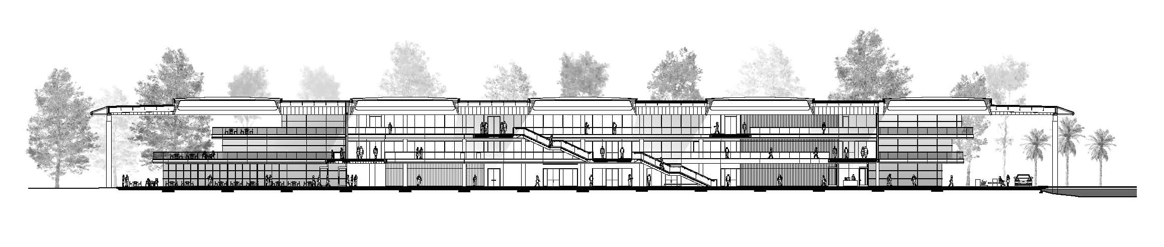 Section of PGA TOUR new headquarters by Foster + Partners