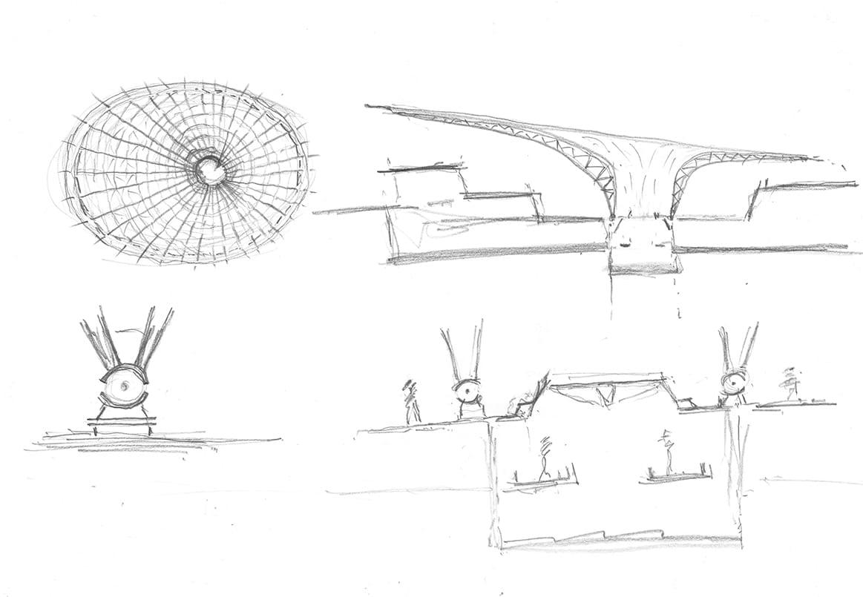 TERRA pavilion at expo 2020 Dubai by Grimshaw sketch