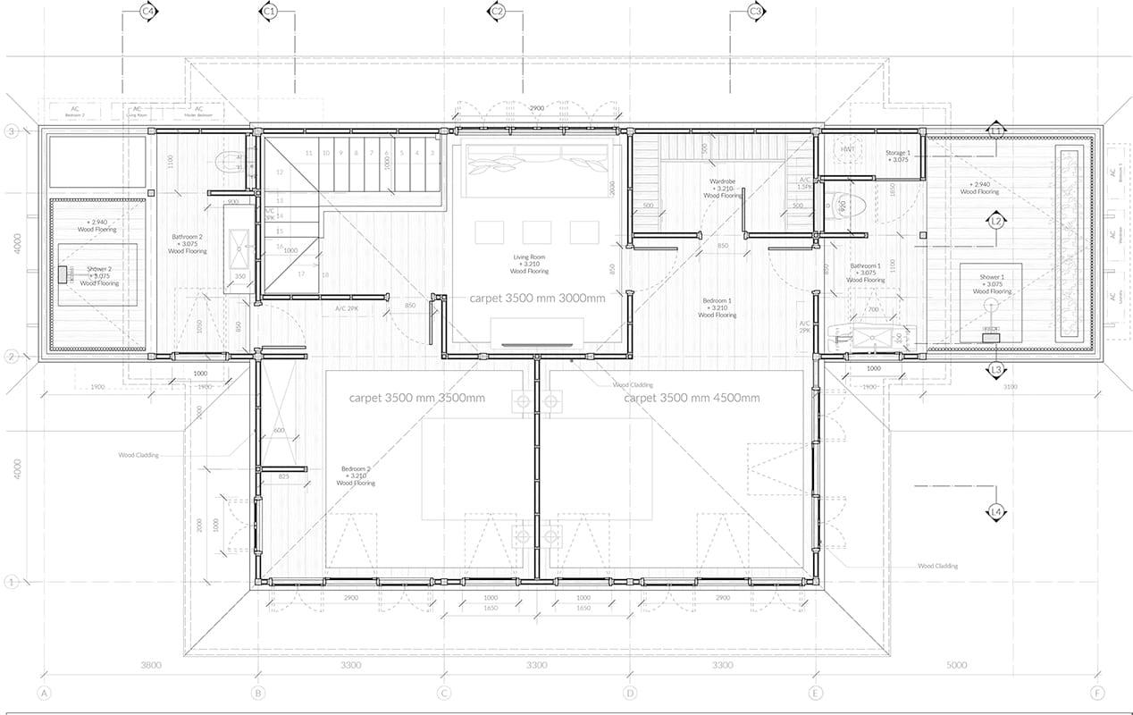 Second floor plan Rumah Purnama