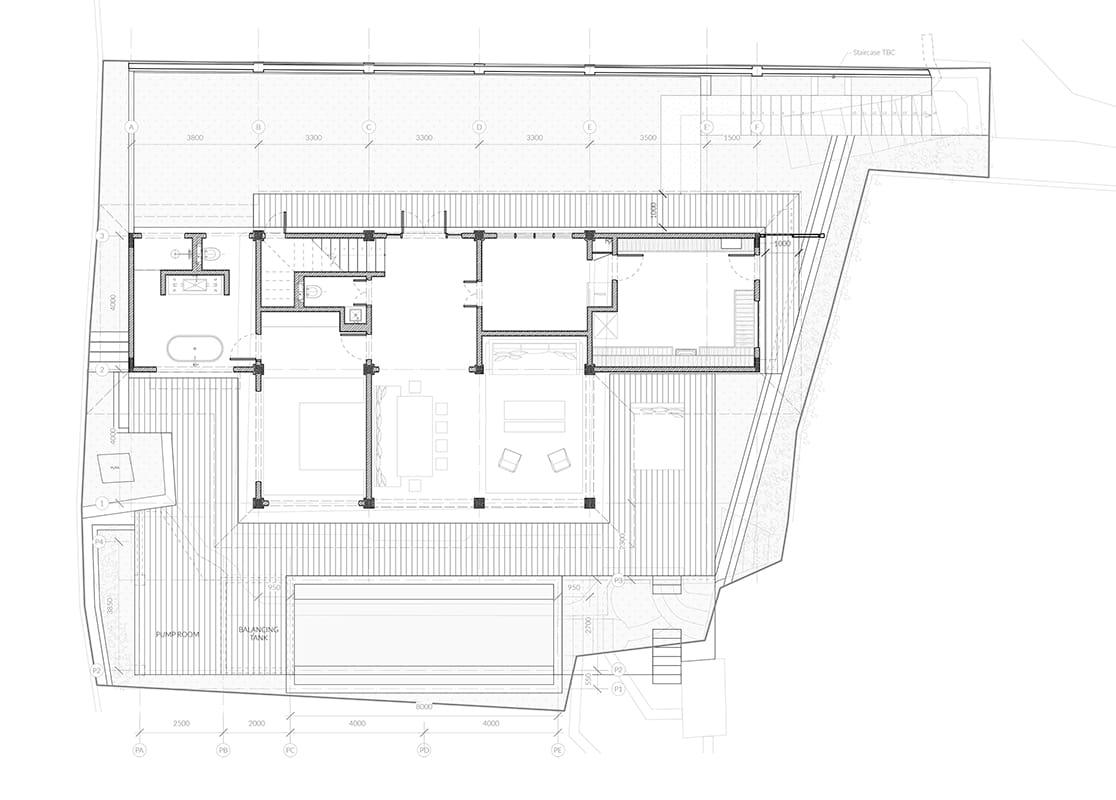 Ground floor plan Rumah Purnama