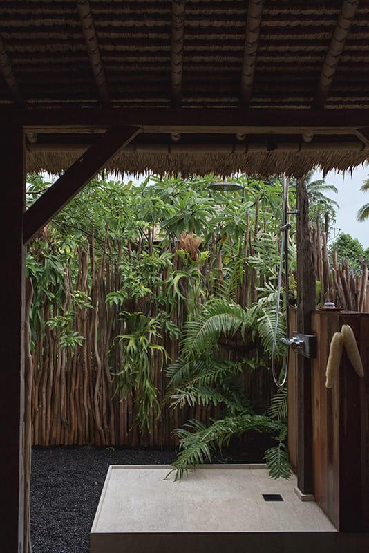 Outdoor shower at Rumpah Purnama