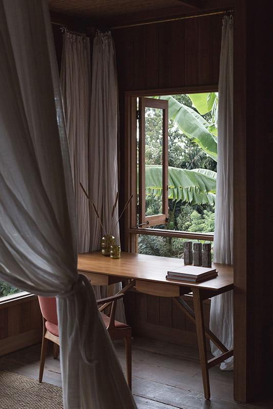 Study Table next to window in Rumah Purnama