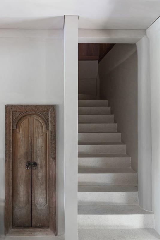 Entrance detail at Rumah Purnama