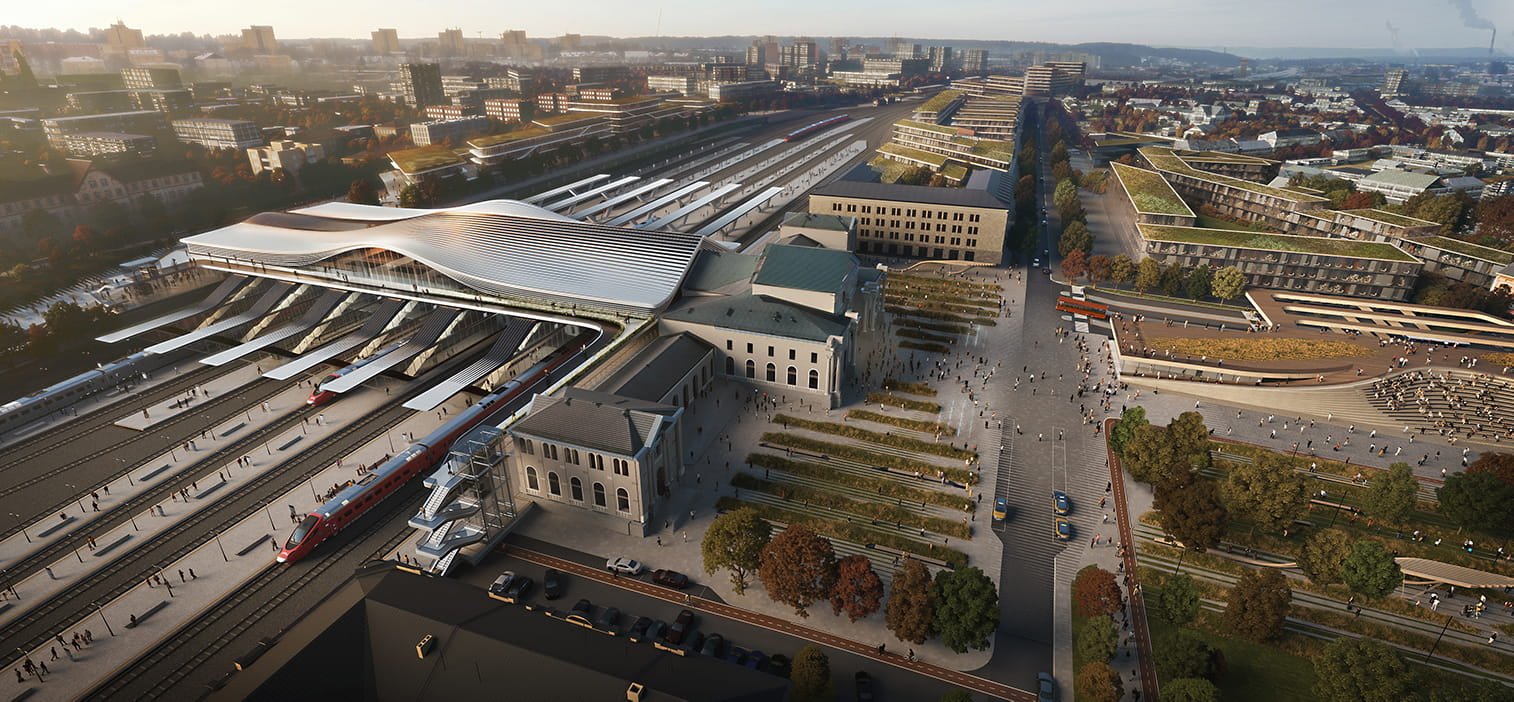 ZHA redevelops the Vilnius railway station